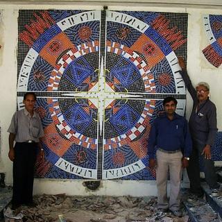 Glass Mosaic Mandala Mural