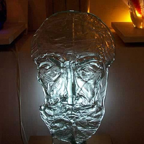 Glass Portrait – BC Sanyal